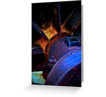 Artistic Old Mining Equipment Greeting Card