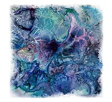 Jack Frost's Scribbles 1 (with frame) Photographic Print