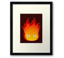 Calcifer! Howls moving castle. Framed Print