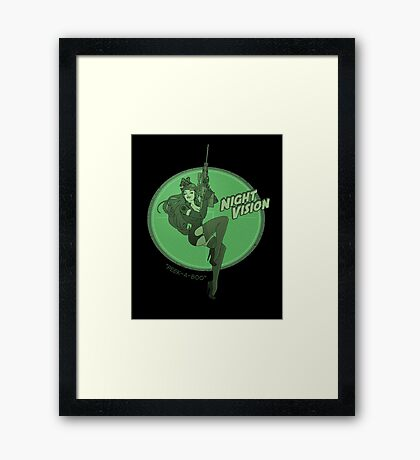 Night Vision Pin Up Framed Print