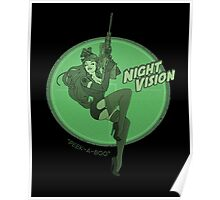 Night Vision Pin Up Poster