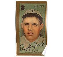 Benjamin K Edwards Collection Floyd M Kroh Chicago Cubs baseball card portrait Poster