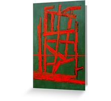 RED LINE OR FIRE Greeting Card