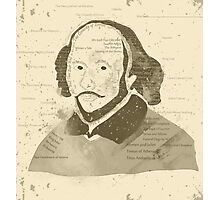 Vintage Portrait of William Shakespeares Photographic Print