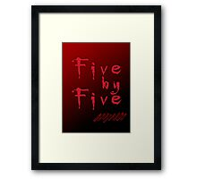 Five by Five Buffy The Vampire Slayer Framed Print