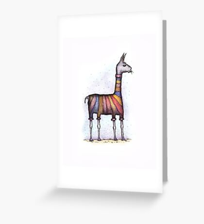 llamas get cold Greeting Card