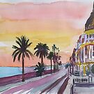 Nice France sea view at sunset by artshop77