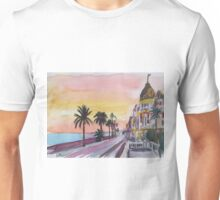 Nice France sea view at sunset Unisex T-Shirt