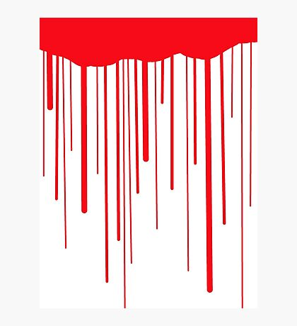 Blood Drips (white) Photographic Print