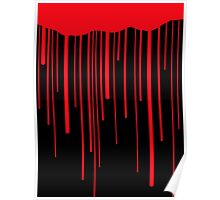 Blood Drips (black) Poster