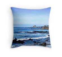 Lighthouse in the Distance Throw Pillow