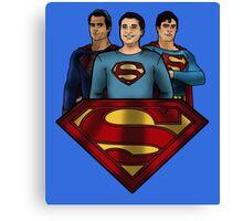 League of Movie Supermen Canvas Print
