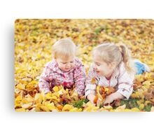 Autumn Princesses Metal Print