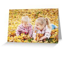 Autumn Princesses Greeting Card