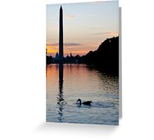 Washington at Sunrise Greeting Card