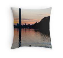 Washington at Sunrise Throw Pillow