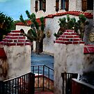 Scotty's Castle from the guest house walkway by HeavenOnEarth