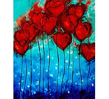 Hearts on Fire - Romantic Art By Sharon Cummings Photographic Print