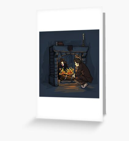The Witch in the Fireplace Greeting Card