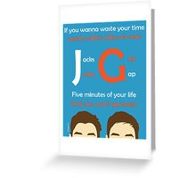 JacksGap Theme Song Greeting Card