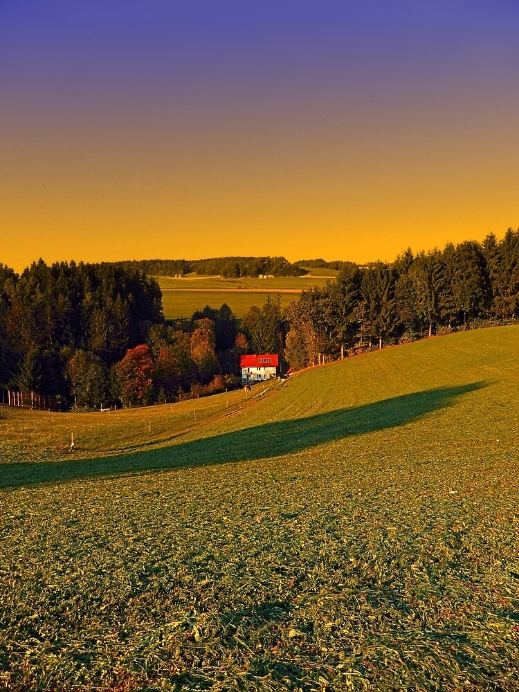 Beautiful sundown in the countryside   landscape photography by Patrick Jobst