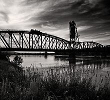 Missouri River Railroad Bridge by Kim Barton