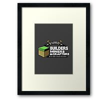 Been Around the Block - Minecraft Shirt Framed Print
