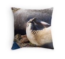 Whew, those flippers stink! Throw Pillow