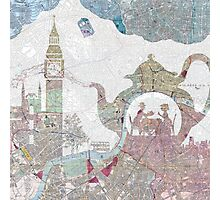 4 o'clock tea London Map Photographic Print