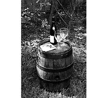 Vintage Wine Barrel Photographic Print