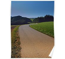 Country road through rural scenery II | landscape photography Poster