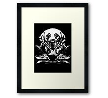 Duck hunter Lab Framed Print
