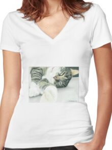 Ally Women's Fitted V-Neck T-Shirt
