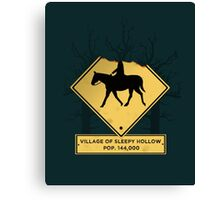 Headless Horseman Sign Canvas Print