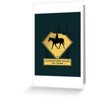 Headless Horseman Sign Greeting Card