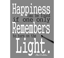 Happiness Albus Dumbledore Photographic Print