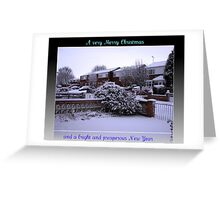 Virgin Snow Christmas and New Year Card Greeting Card