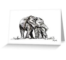 Elephant Hugs Greeting Card
