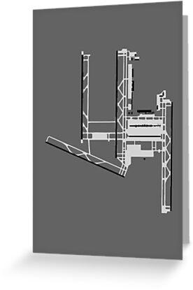 Washington Dulles Airport Diagram by vidicious