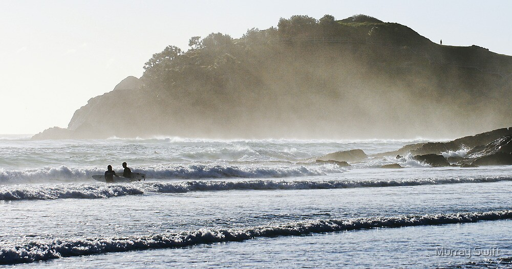 Early morning surf by Murray Swift