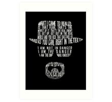 Breaking Bad - Walter White/Heisenberg Typography (White Print) Art Print