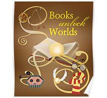 Books Unlock Worlds Poster