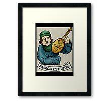 Medieval Musician- Lute v.2 Framed Print