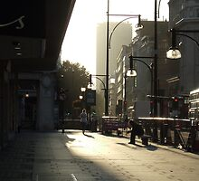 Early morning, Oxford Street. by Andrew Viles