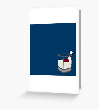 Hey, careful, man, there's a beverage here! Greeting Card