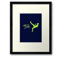 DARE TO ZLATAN Framed Print