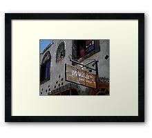 """ Mozzi's Saloon "" Framed Print"