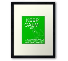 Keep Calm and Kermie On Framed Print