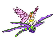 Dragonfly Riding Faerie by imphavok