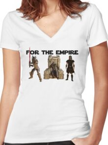 For the Empire Women's Fitted V-Neck T-Shirt